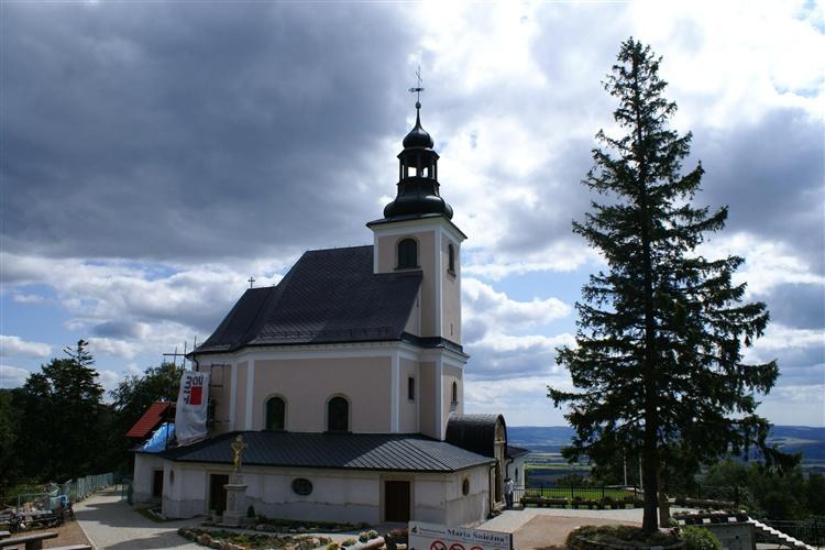 Kostel Panny Marie Sněžné, svah hory Igliczna - Międzygórze